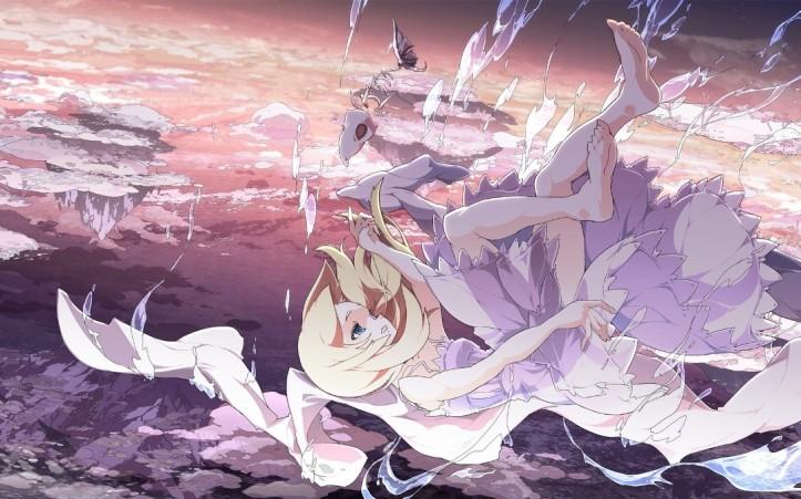 380641_devushka_anime_oblaka_nebo_kosti_skelet_gory_1680x1050_(www.GdeFon.ru)